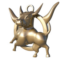 3d model horoscope sign taurus