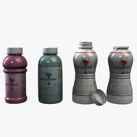yogurt bottles obj