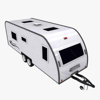 caravan van 3d max
