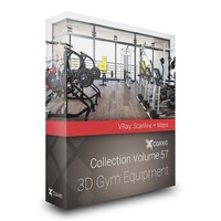 3D Gym Equipment – CGAxis Models Volume 57 3ds Max VRay