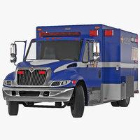 International Durastar Ambulance 3 Rigged 3D Model