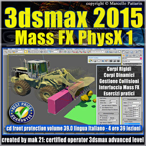 3ds max 2015 Mass Fx PhysX v.39 Italiano_cd front