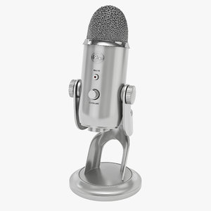 3d blue microphones yeti usb model