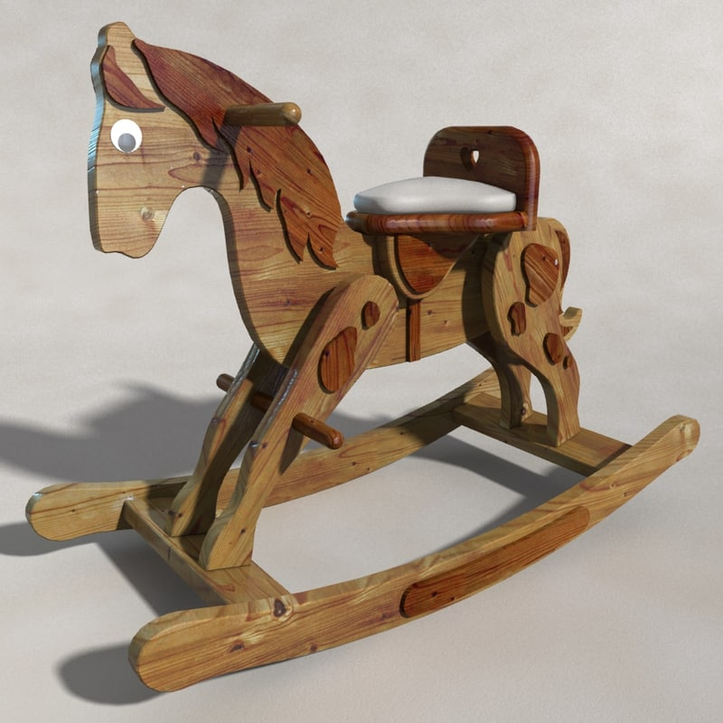 3ds max rocking horse