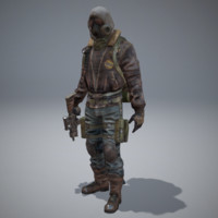 postapocalyptic character 3d x