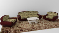 3d model room sofa set