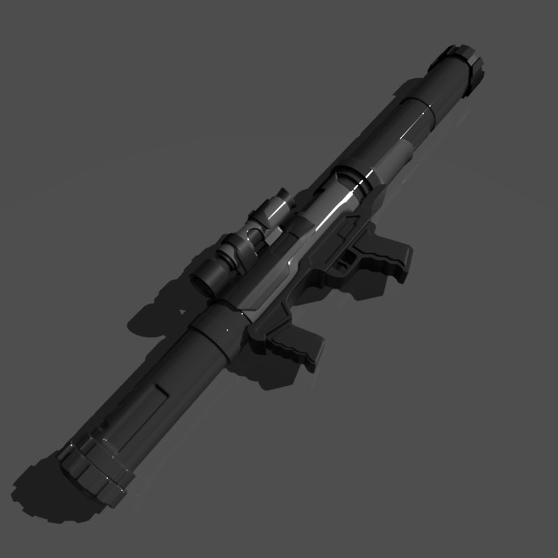 rocket laucher 3d obj