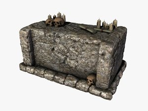 3d model stone altar