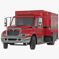 International Durastar Ambulance 2 Rigged 3D Model