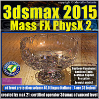 3ds max 2015 Mass Fx PhysX v.40 cd front