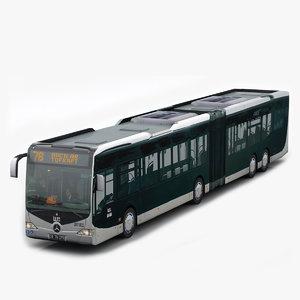 3d model capacity city bus