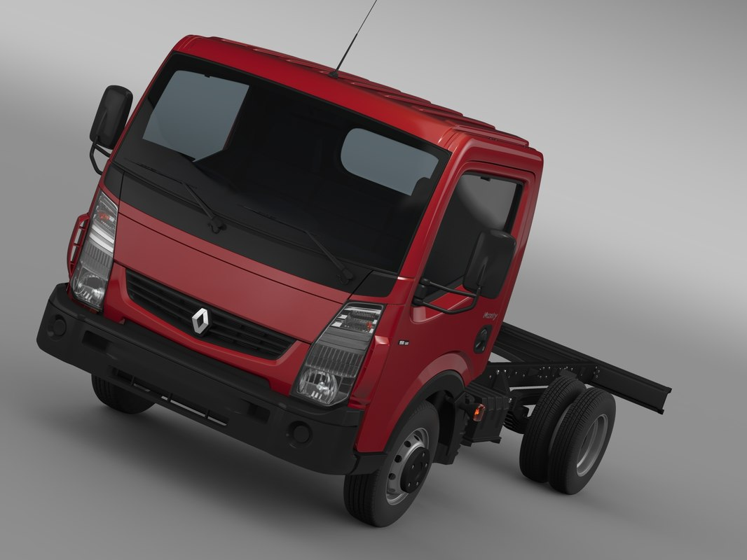 3d renault maxity 2013 chassi