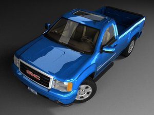 3d model gmc sierra reg cab