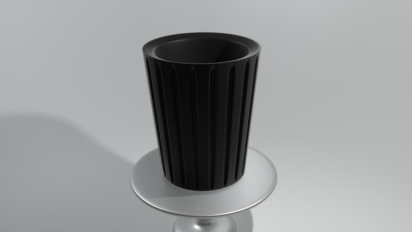 free modern trash 3d model