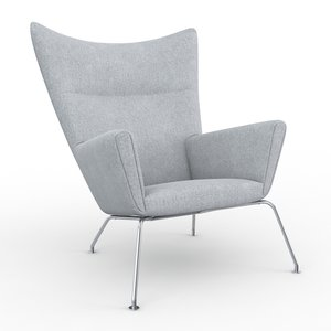 3d model wingchair carl hansen son
