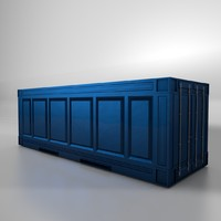 metal shipping crate c4d