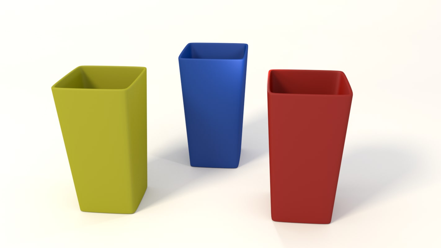 3d square cups