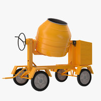 Cement Mixer 2 3D Model