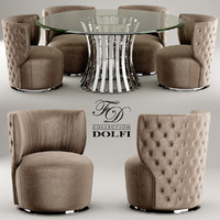 chair table sedia 3d model