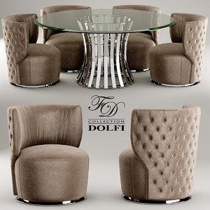 chair table sedia 3d model