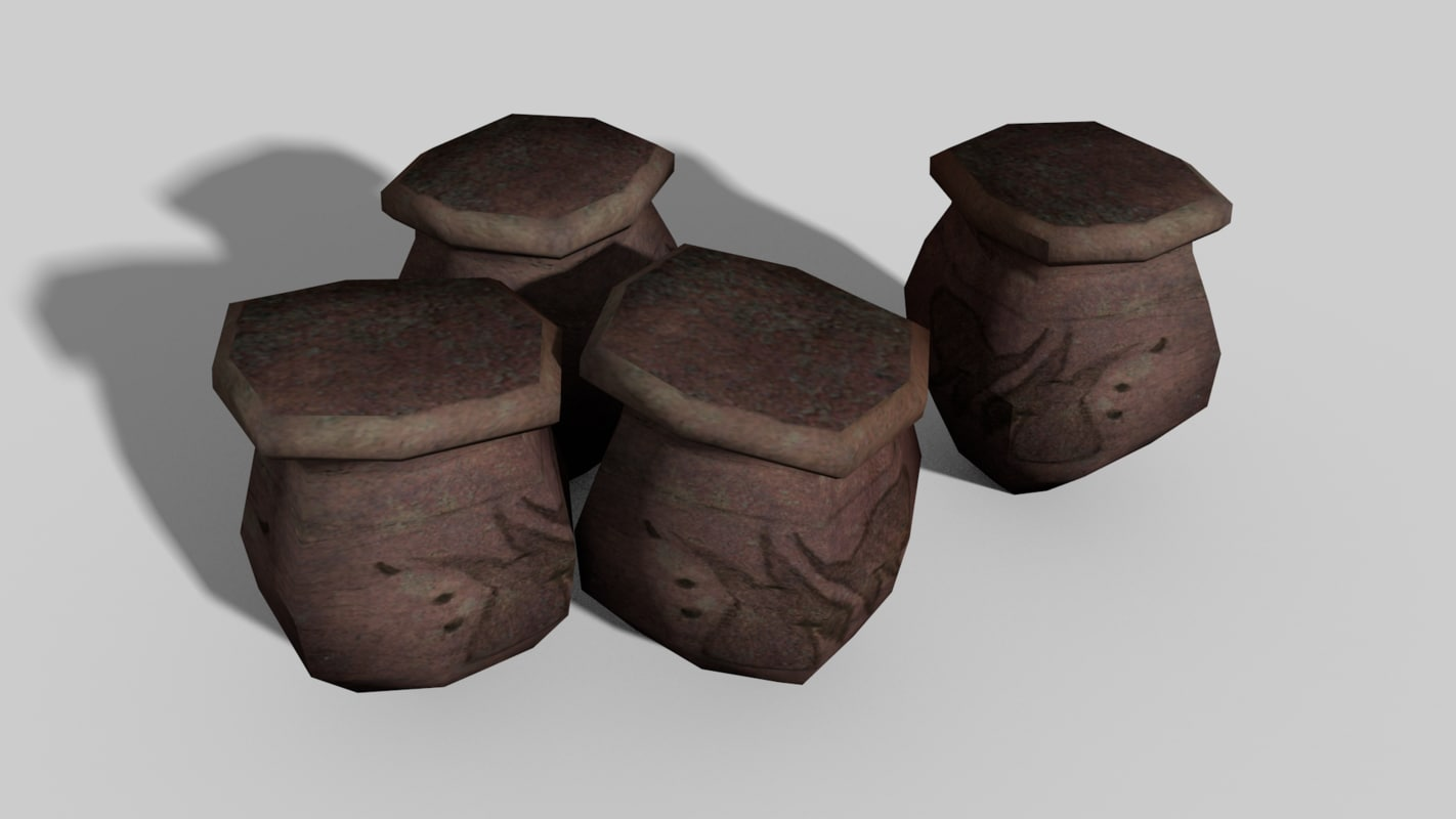 3ds clay pot