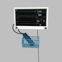 hospital blood pressure monitor 3d model