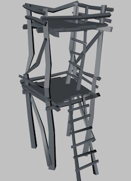 3d watchtower tower