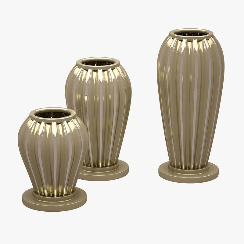 obj decorative vases
