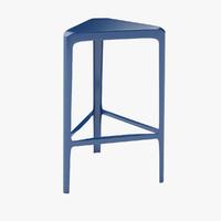 bar stool barstool 3d max