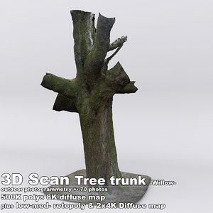 obj scan tree trunk