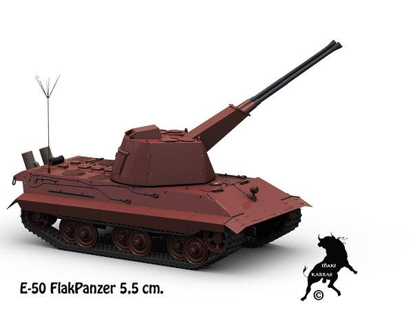 e-50 flak 5 5cm 3d max