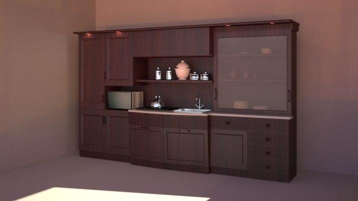 3d kitchen cupboard model