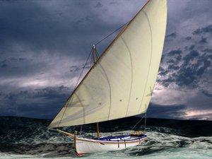 3d model latin sail fishing boat