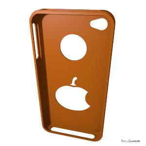 3d model of iphone 4 case