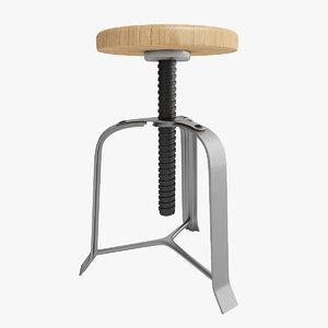 stool tabouret 3d model
