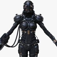 Sci-Fi Cyborg Female