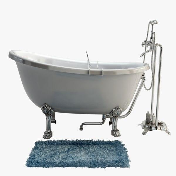 3d retro shower model