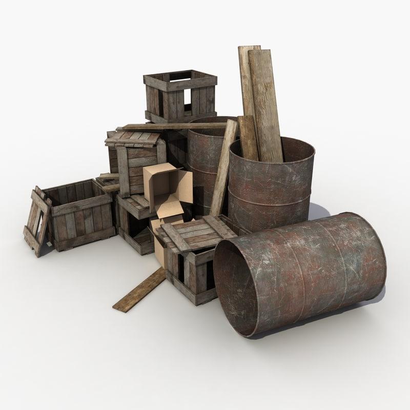 3d model of debris 2