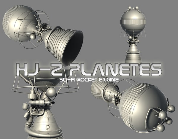 3d model hj-2 planetes j-2