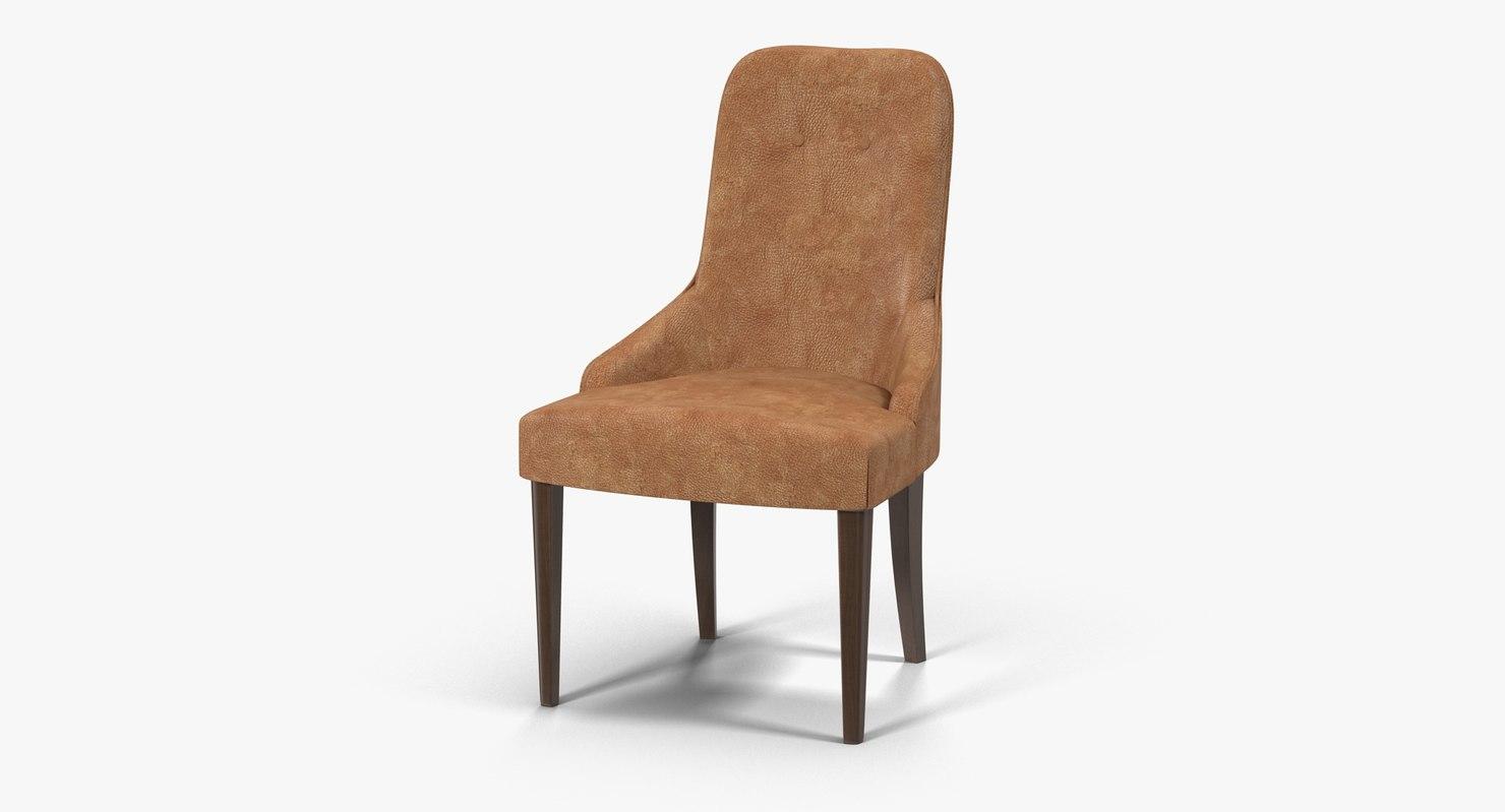 smania aura chair 3d c4d