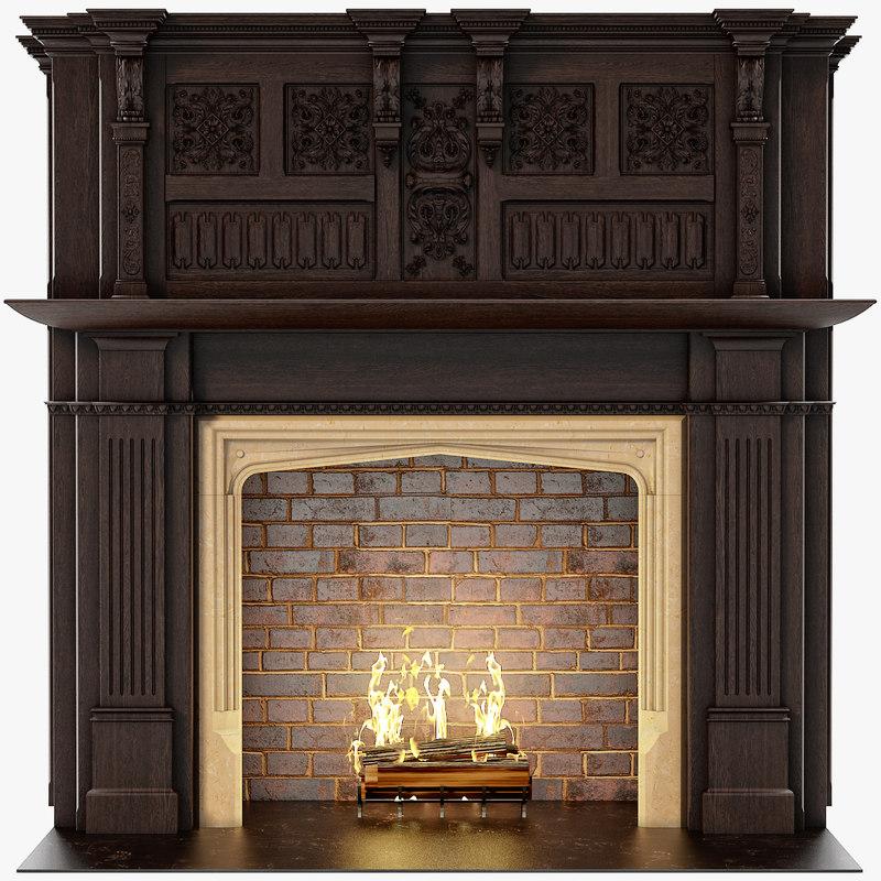 chimneypieces renaissance 3d model