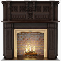 chimneypieces renaissance 3d model