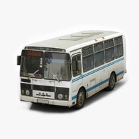 russian paz 3205 bus 3d 3ds