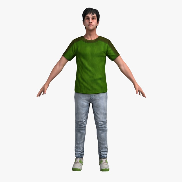 3ds male human man
