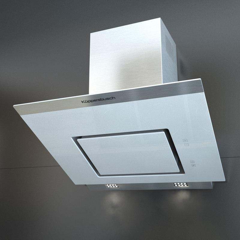 kitchen hood kuppersbusch kd 3d model