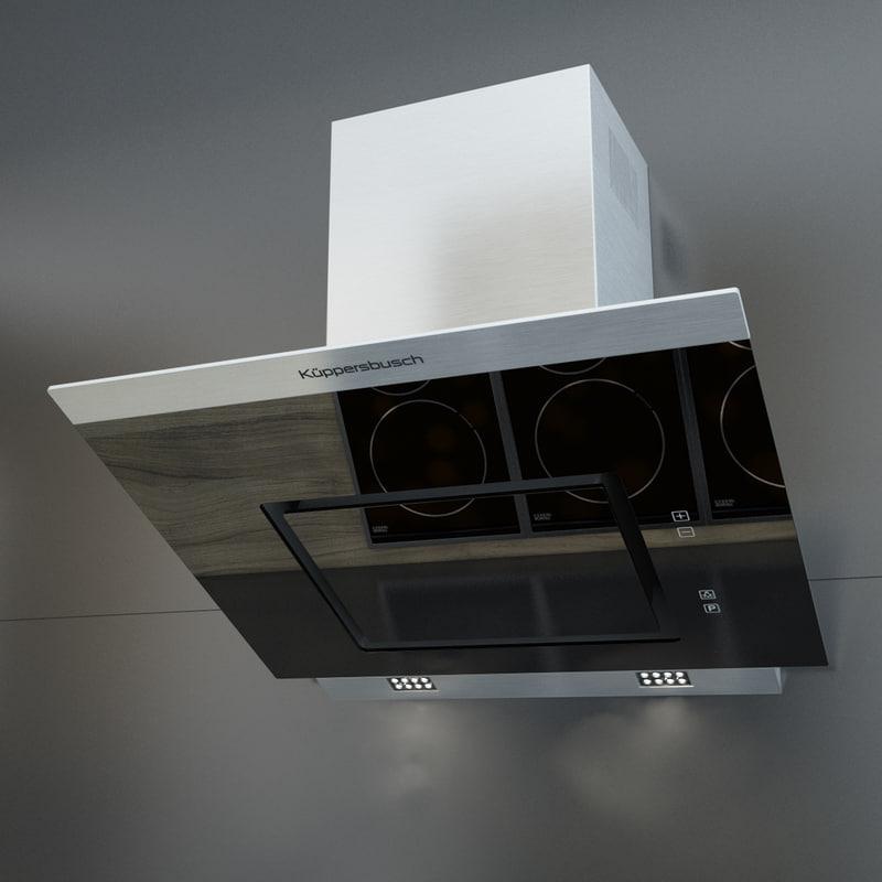 3d kuppersbusch kitchen hood kd model