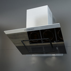 3d kuppersbusch kitchen hood kd model