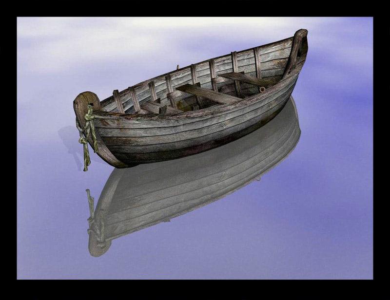 obj old fantasy boat