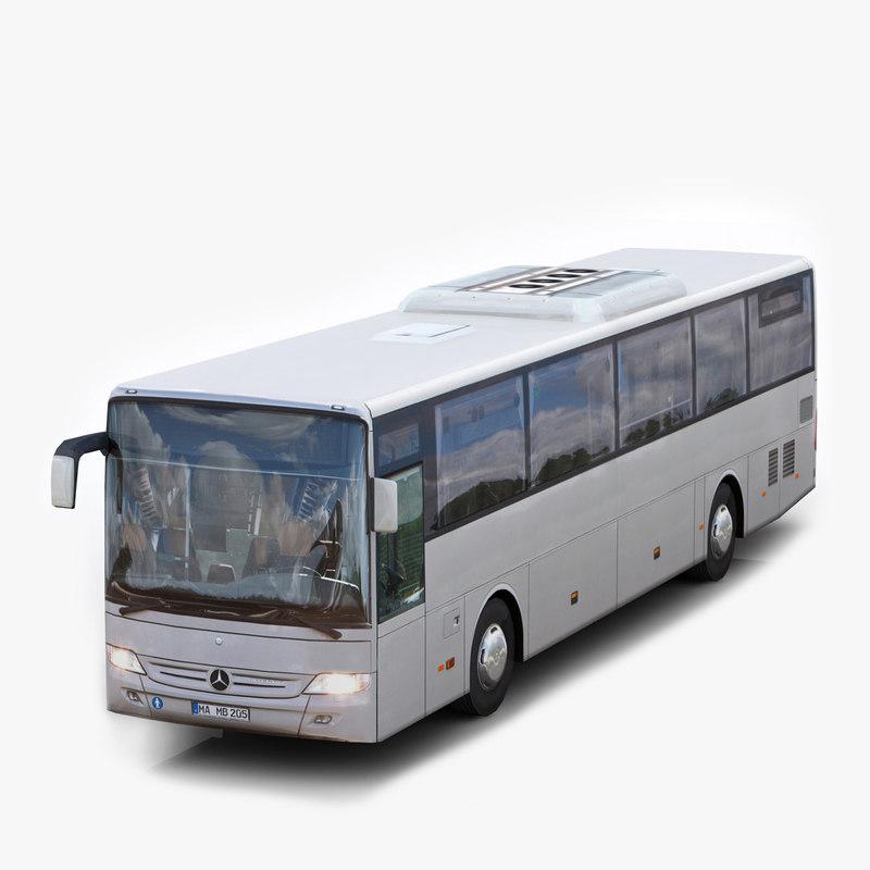 mercedes benz integro bus 3d obj
