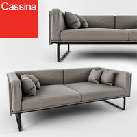 sofa cassina 202 8 3d obj